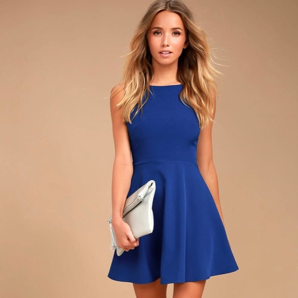 3f10d9cb47 Lulu s Dresses   Skirts - Lulu s Royal Blue Skater Dress